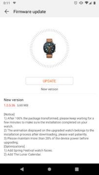 huawei watch gt aktualizace unor 2018