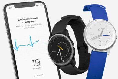 hybridni hodinky withings move ecg