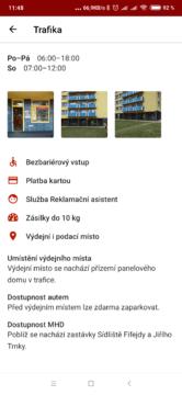 Informace o výdejním místě