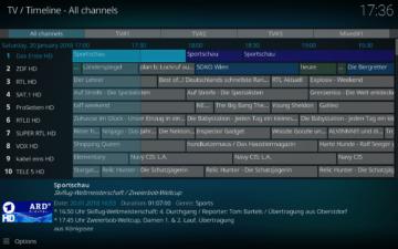 kodi v18 televize