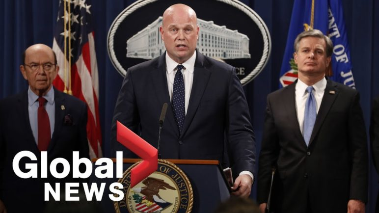 Matt Whitaker announces charges against Huawei officials.