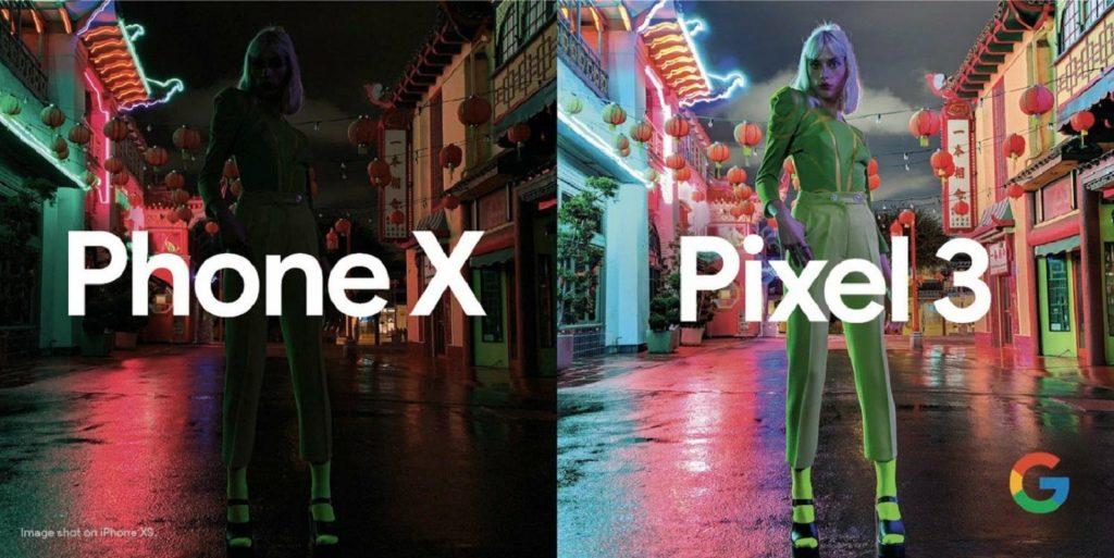 nocni rezim google pixel 3 apple iphone xs