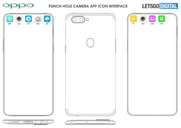 oppo patent otvor v displeji aplikace ikona