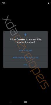 opravneni v androidu Q