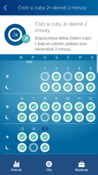 Philips Sonicare aplikace kalendar