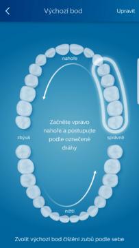Philips Sonicare aplikace rady k cisteni zubu