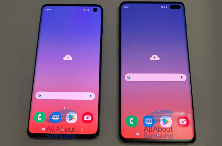 samsung galaxy s10+ displej design