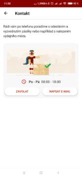 Zásilkovna - kontakt