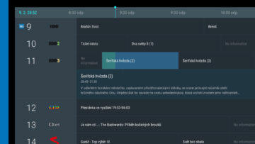 Android TV sledovani TV set top box live channels program televize