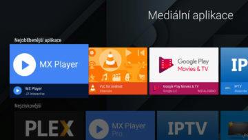 Android TV sledovani TV set top box obchod google play aplikace