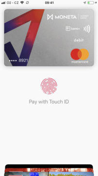 Apple Pay ceska republika moneta