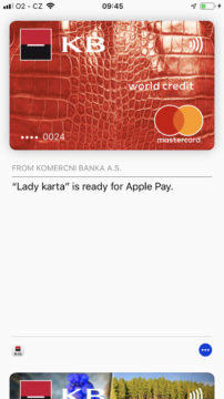 Apple Pay Cesko pridani karty