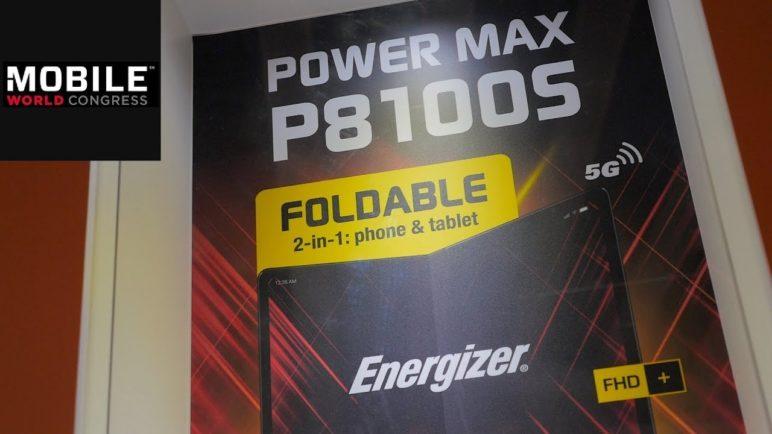 Energizer Power Max P8100S: Faltbares Smartphone auf dem MWC