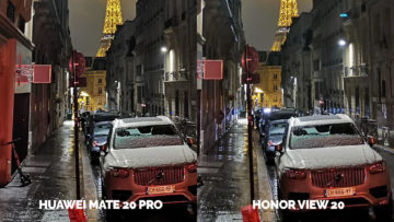 Fototest Honor View 20 vs Huawei Mate 20 Pro nocni ulice pariz detail