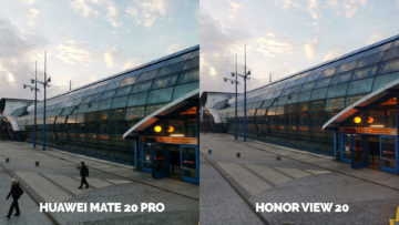 Fototest Honor View 20 vs Huawei Mate 20 Pro stanice metra