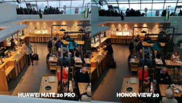 Fototest Honor View 20 vs Huawei Mate 20 Pro umele osvetleni restaurace