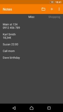jednoducha aplikace pro android poznamky