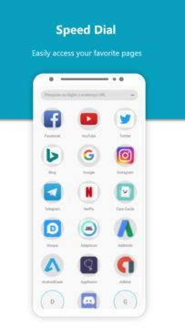 Momentum Browser aplikace