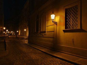 noční ulice praha fotografie telefon samsung galaxy s10