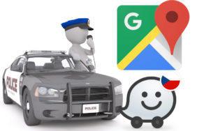 policie nypd waze google mapy hlaseni
