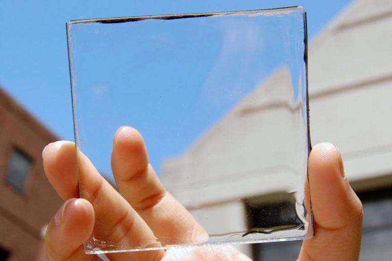 pruhledny solarni panel