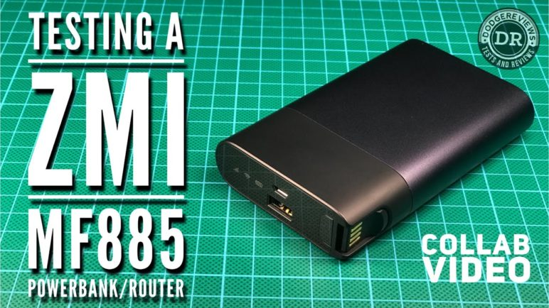 Testing a ZMI MF885 powerbank/router in collaboration with Martijn Wester