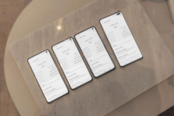 samsung galaxy s10 displej prustrel