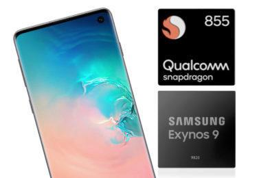 samsung galaxy s10 snapdragon 855 exynos 9820