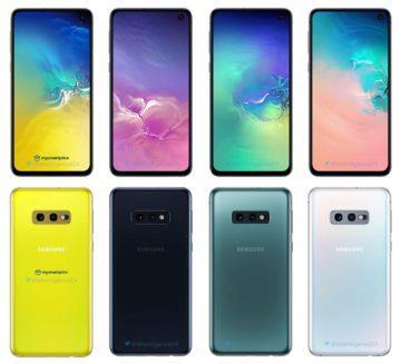 samsung galaxy s10e barevne varianty