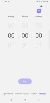 Samsung One UI hodiny