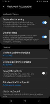 Samsung One UI nastaveni fotoaparatu tmavy rezim