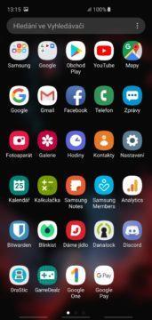 Samsung One Ui samsung galaxy s10 menu s aplikacemi
