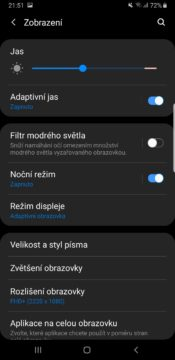 Samsung One UI tmavy rezim