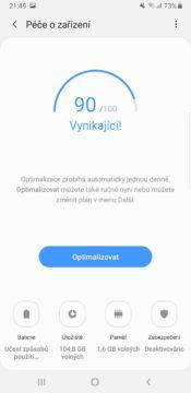 Samsung One UI udrzba telefonu