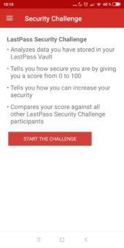 Správce hesel Lastpass app security