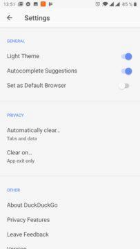 Světlé téma aplikace