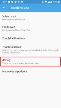 V jazycích aktivujte češtinu