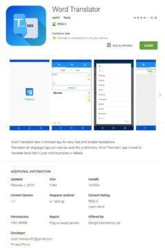 word translator malware skodliva aplikace google play