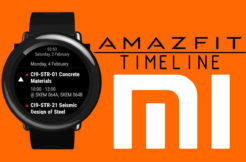 xiaomi amazfit widget timeline