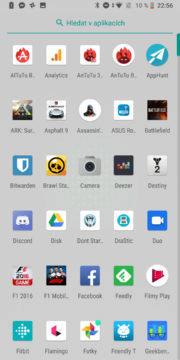Xiaomi Black Shark Android system JoyUI menu s aplikacemi