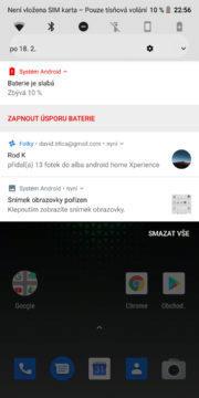 Xiaomi Black Shark Android system JoyUI notifikace