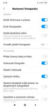 Xiaomi Mi 9 aplikace fotoaparat nastaveni