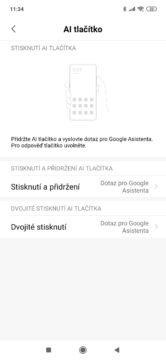 Xiaomi Mi 9 MIUI 10 ai tlačítko