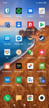 Xiaomi Mi 9 MIUI 10 aplikace