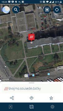 Zobrazení místa a adresy
