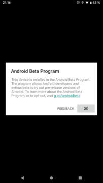 Android Q beta program