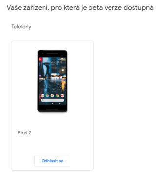 android q betaverze prihlaseni