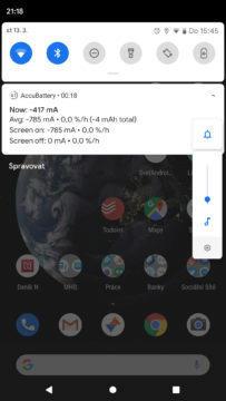Android Q notifikace ovladani hlasitosti