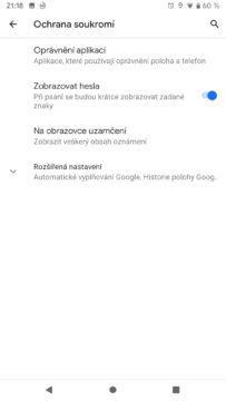 Android Q ochrana soukromi