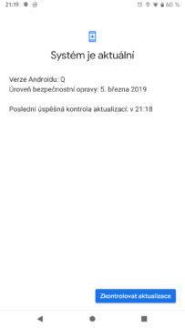 Android Q system je aktualni